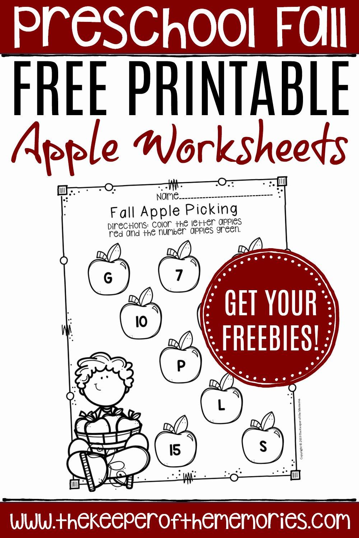 Apple Worksheets for Preschoolers New Free Printable Apple Worksheets for Preschoolers