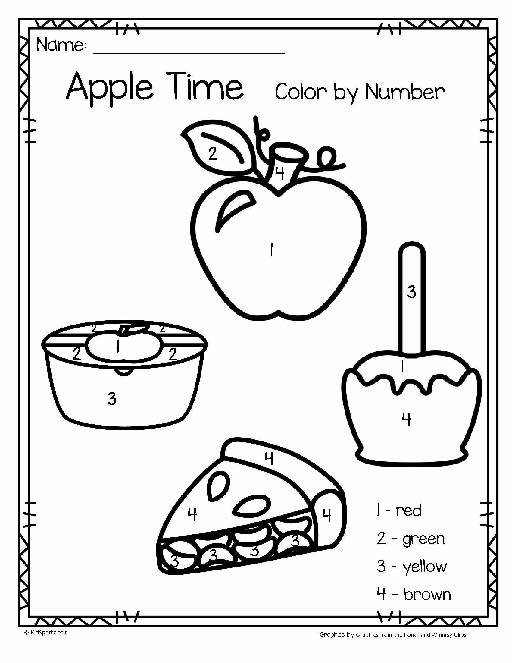 Apple Worksheets for Preschoolers New Worksheets Printable Number Coloring for toddlers Pdf