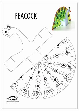 Arts and Crafts Worksheets for Preschoolers Fresh Glue Less Printable Peacock