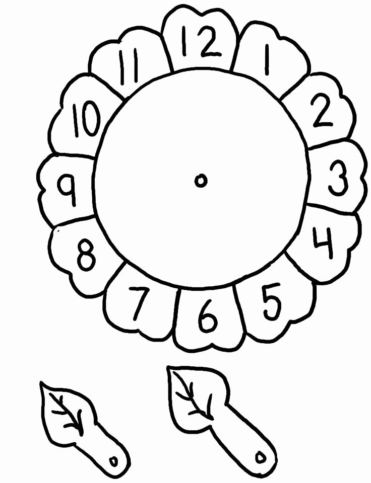 Arts and Crafts Worksheets for Preschoolers Inspirational Flower Clock Craft
