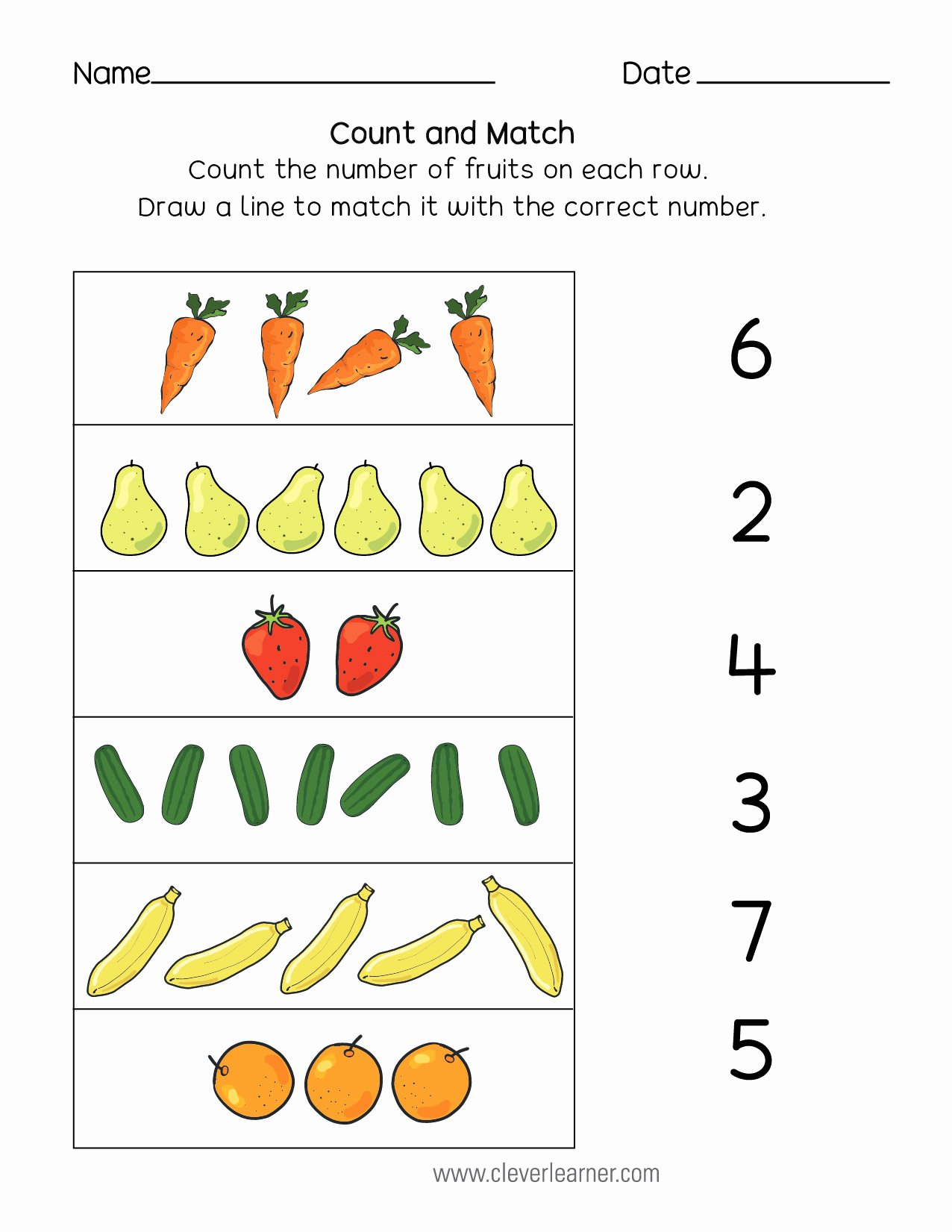 Association Worksheets for Preschoolers Best Of Number Matching Counting and Number Writing Worksheets