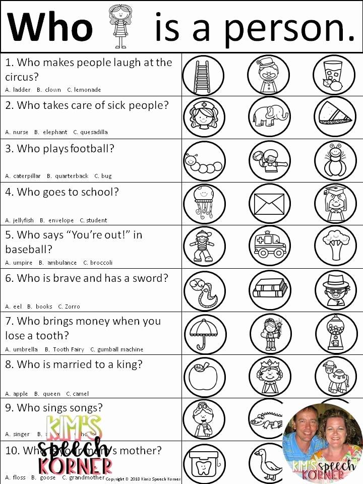 Association Worksheets for Preschoolers Lovely Language Activities Bundle Category Negative association