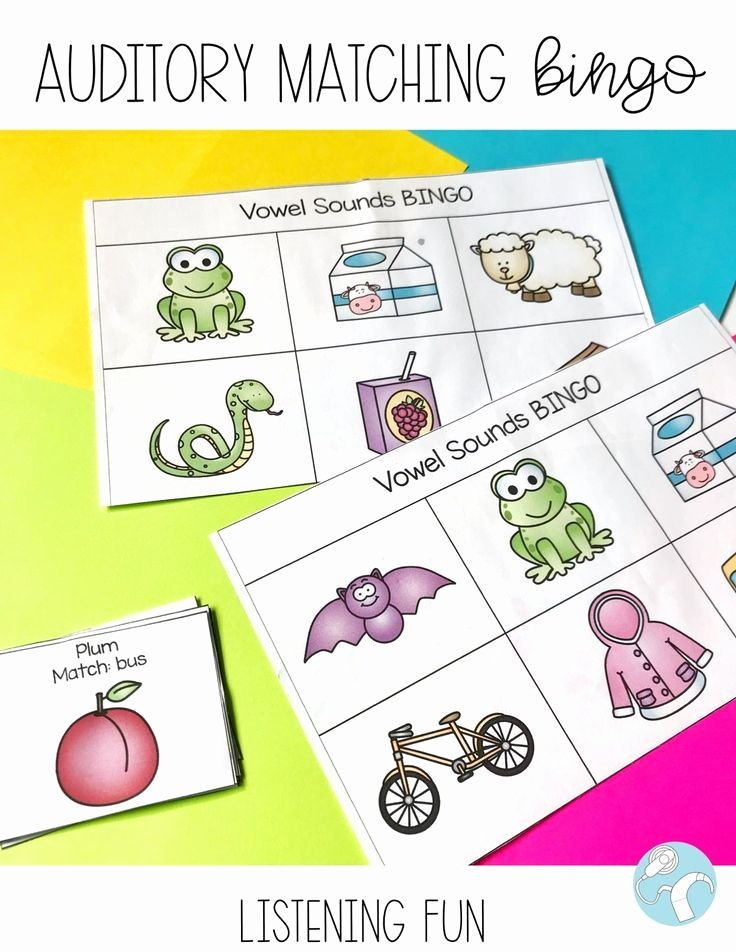 Auditory Discrimination Worksheets for Preschoolers Free Auditory Training Bundle sound Matching