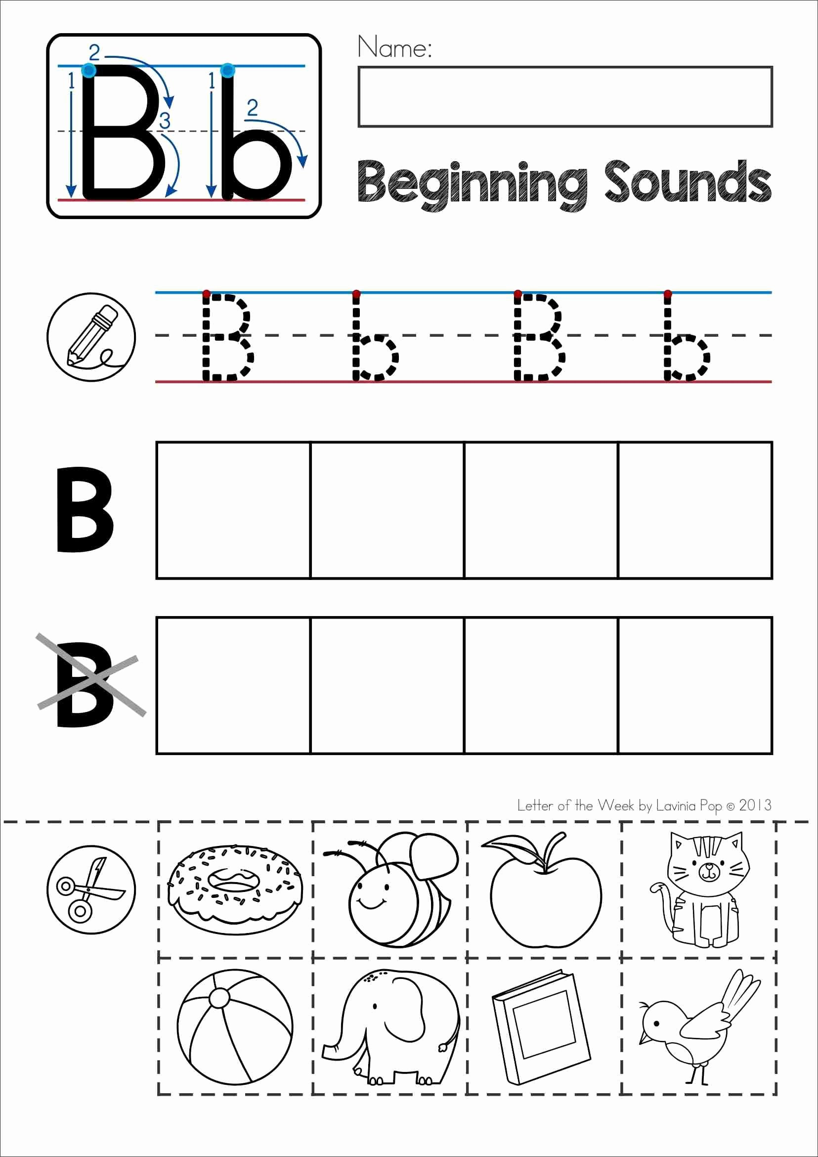 B Worksheets for Preschoolers Lovely Pin On My Tpt Products