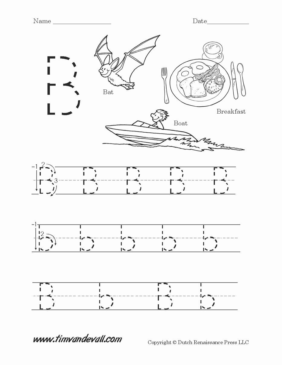 B Worksheets for Preschoolers top Worksheet Letter Worksheets forre K