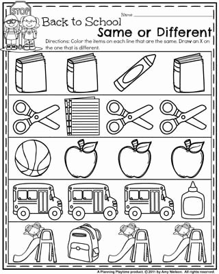 Back to School Worksheets for Preschoolers Free Back to School Preschool Worksheets