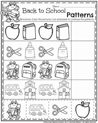 Back to School Worksheets for Preschoolers Ideas Back to School Preschool Worksheets Planning Playtime