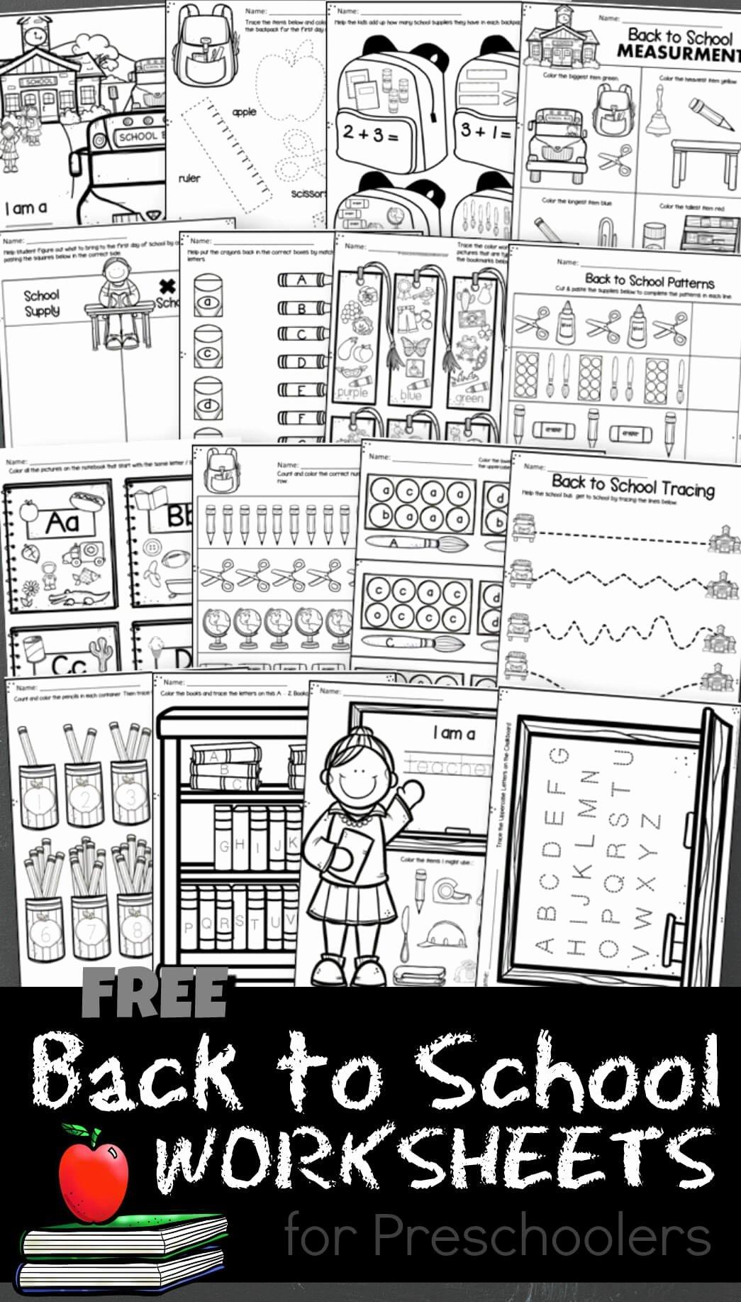 Back to School Worksheets for Preschoolers Ideas Free Back to School Worksheets