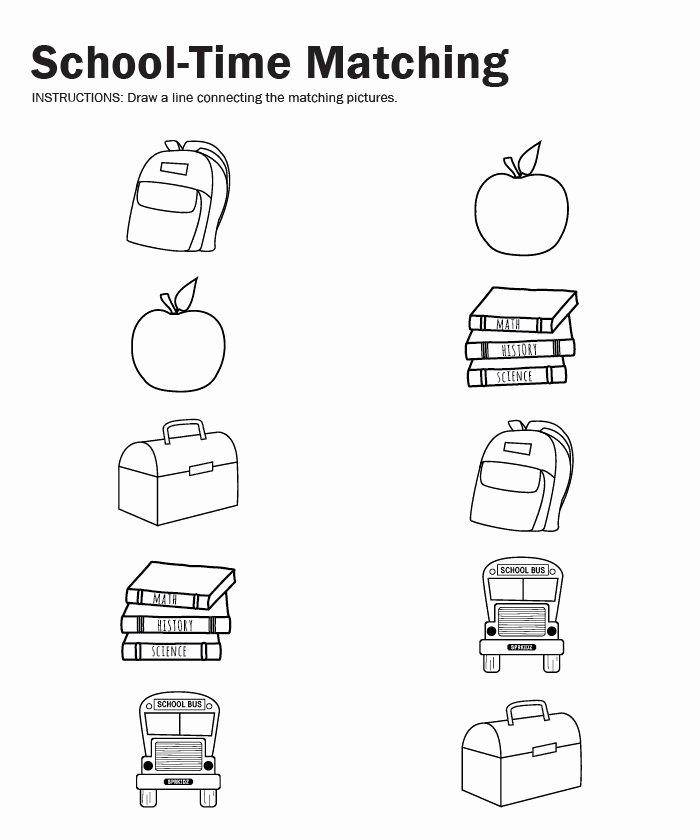 Back to School Worksheets for Preschoolers Lovely Back to School Worksheet for Kids – Crafts and Worksheets