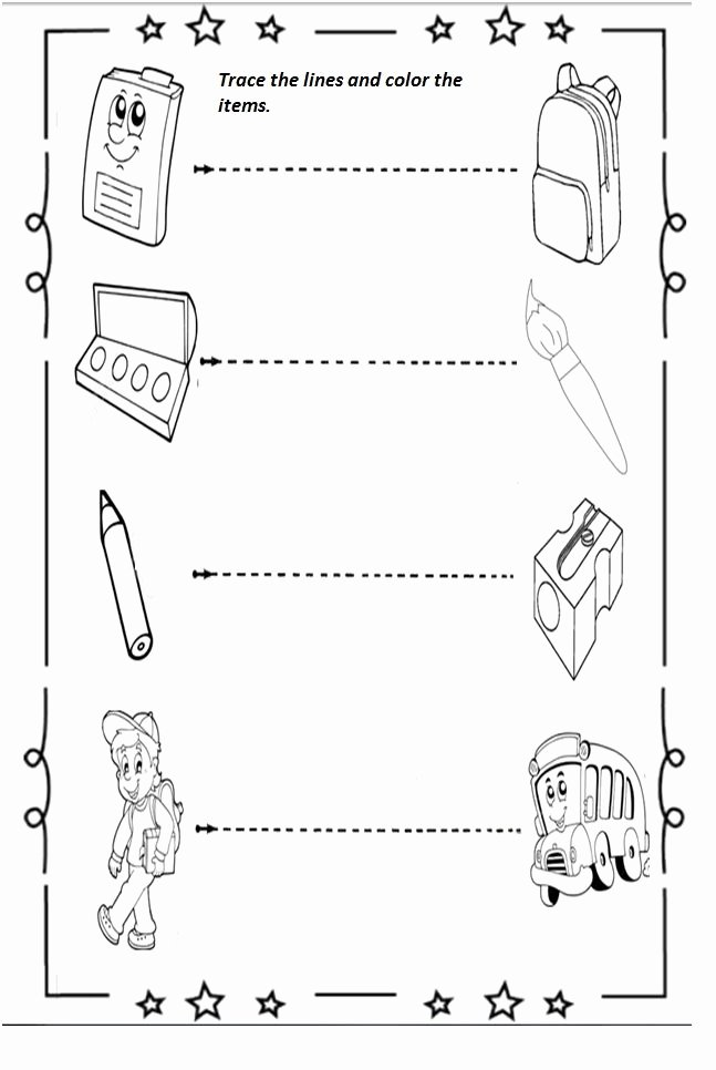 Back to School Worksheets for Preschoolers Printable Free Printable Back to School Worksheet for Preschoolers