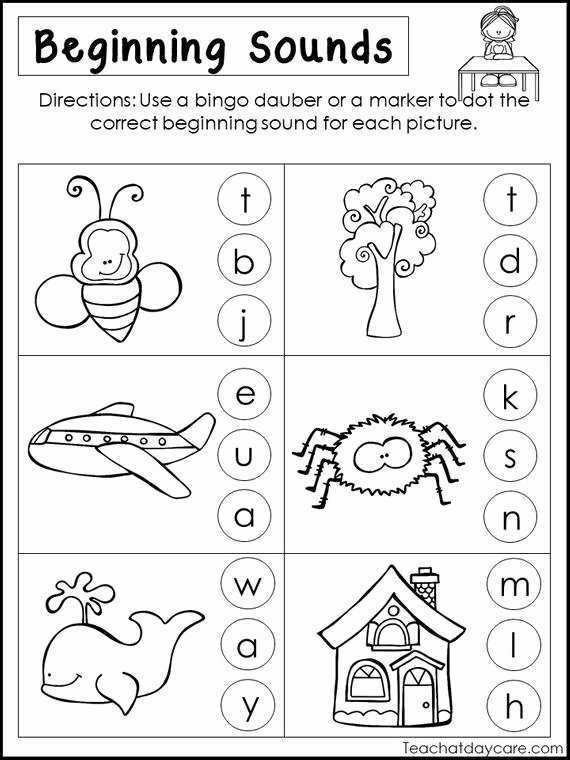 Beginning sounds Worksheets for Preschoolers Ideas 10 Printable Beginning sounds Worksheets Preschool 1st Grade Phonics and Literacy