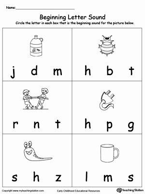 Beginning sounds Worksheets for Preschoolers Ideas Beginning Letter sound Ug Words