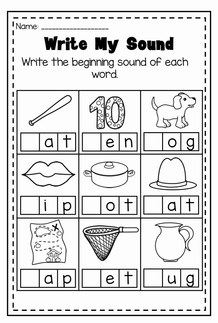 Beginning sounds Worksheets for Preschoolers Kids Mega Phonics Worksheet Bundle Pre K Kindergarten Distance