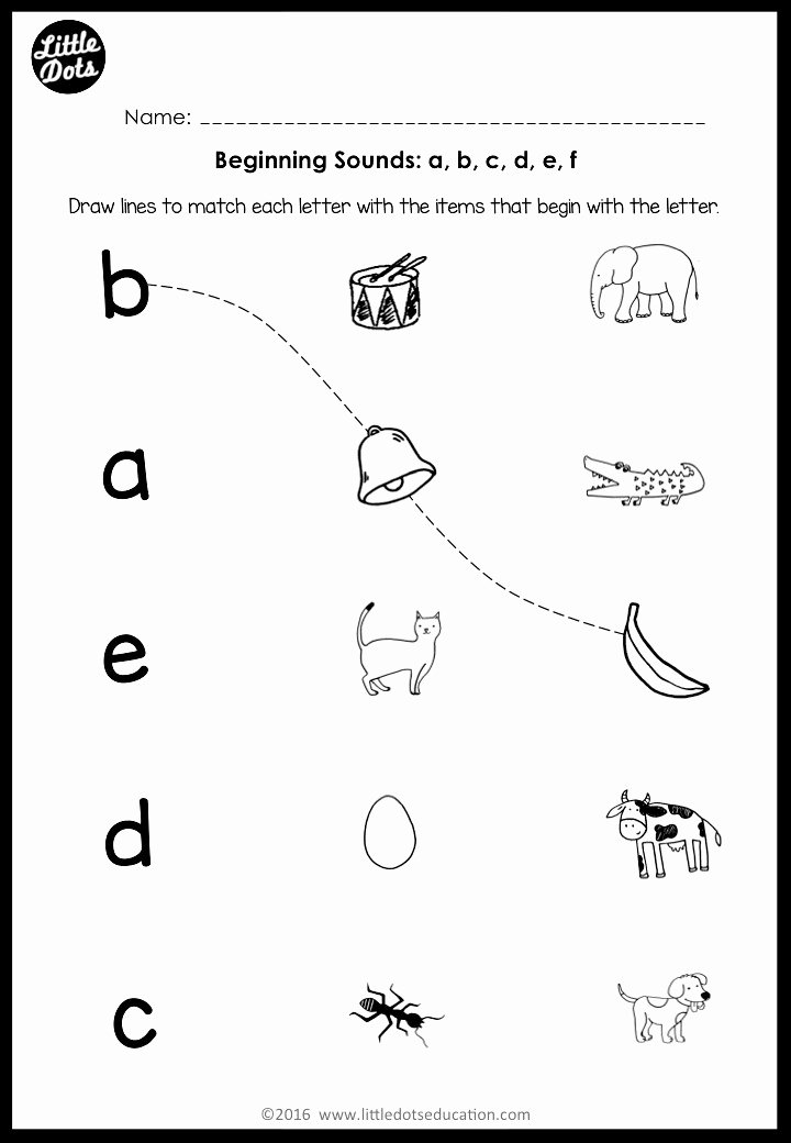 Beginning sounds Worksheets for Preschoolers top Beginning sounds Worksheets and Activities
