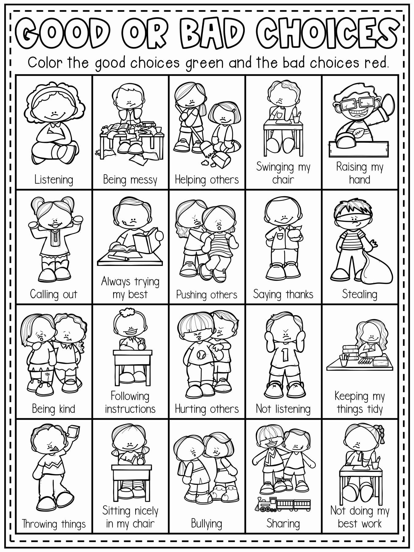 Behavior Worksheets for Preschoolers Kids Pin On Kindergarten Worksheet