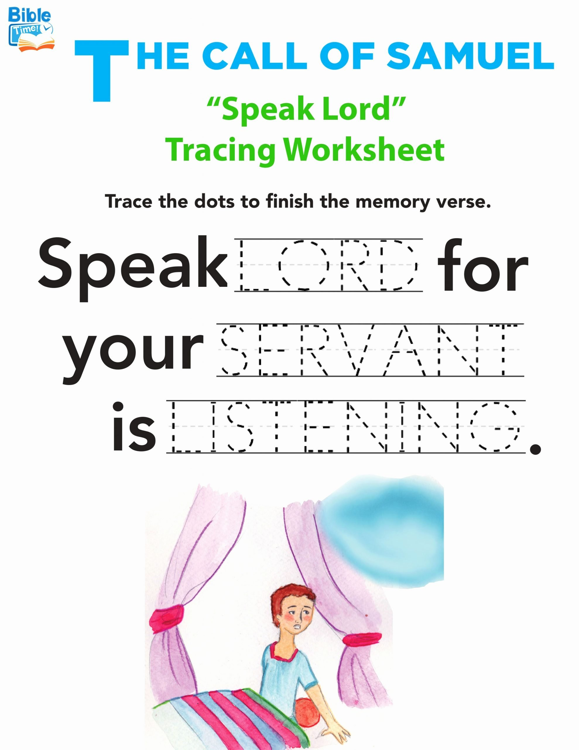 Bible Story Worksheets for Preschoolers Kids Free Tracing Worksheets for Preschool and Kindergarten