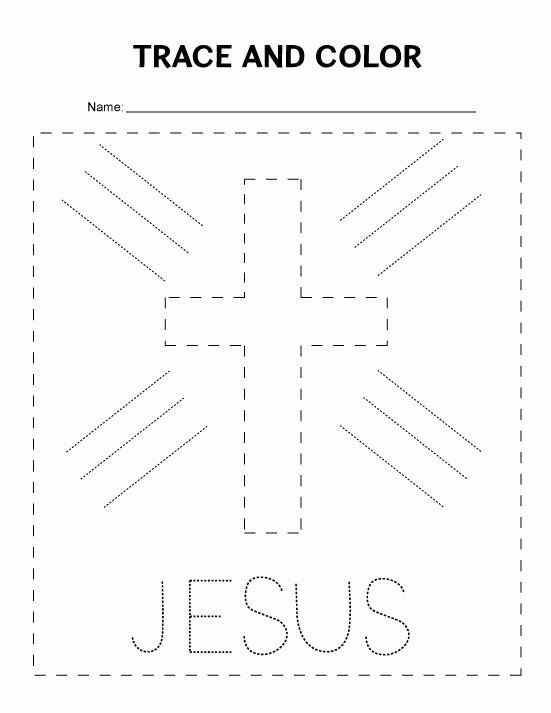Bible Worksheets for Preschoolers Free Tracing Worksheet for Preschoolers Great for Sunday School