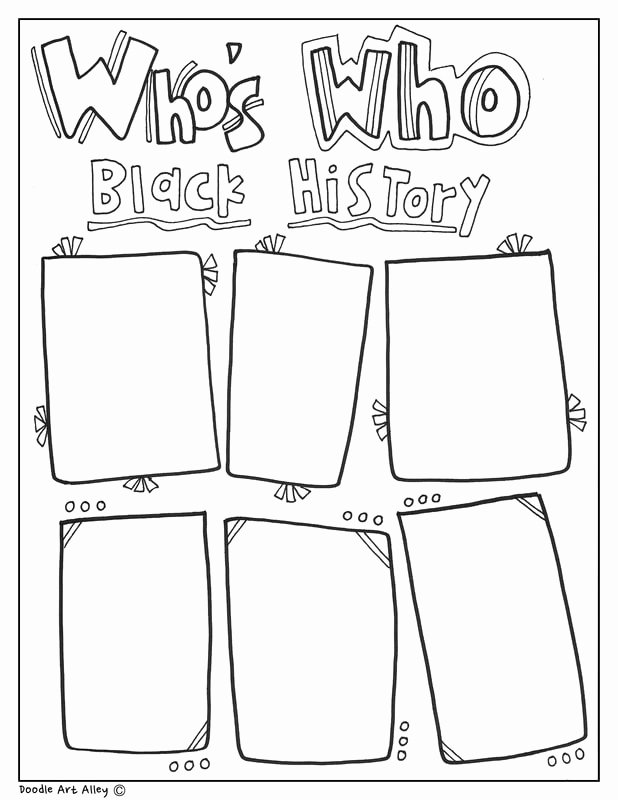 Black History Worksheets for Preschoolers Lovely Black History Month Printables Classroom Doodles