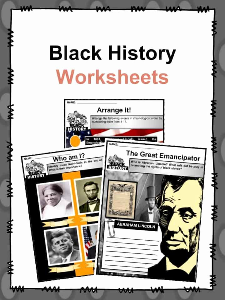 Black History Worksheets for Preschoolers top Black History Facts & Worksheets