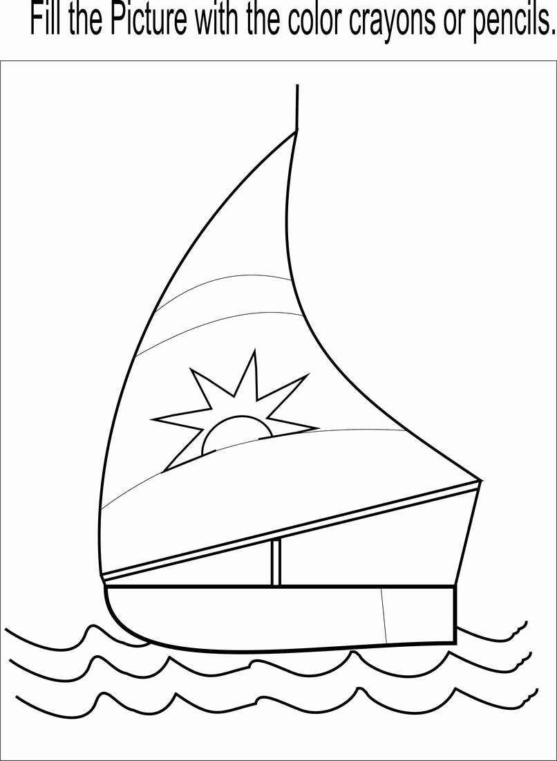 Boat Worksheets for Preschoolers Fresh Little Boat Coloring Page Printable for Kids