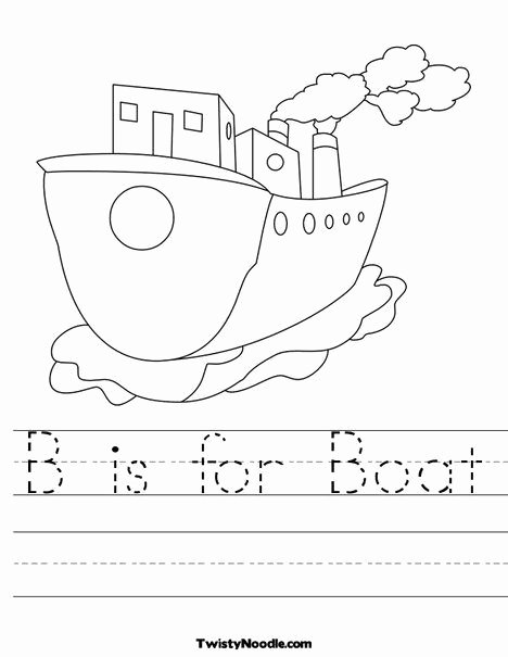 Boat Worksheets for Preschoolers Ideas B is for Boat