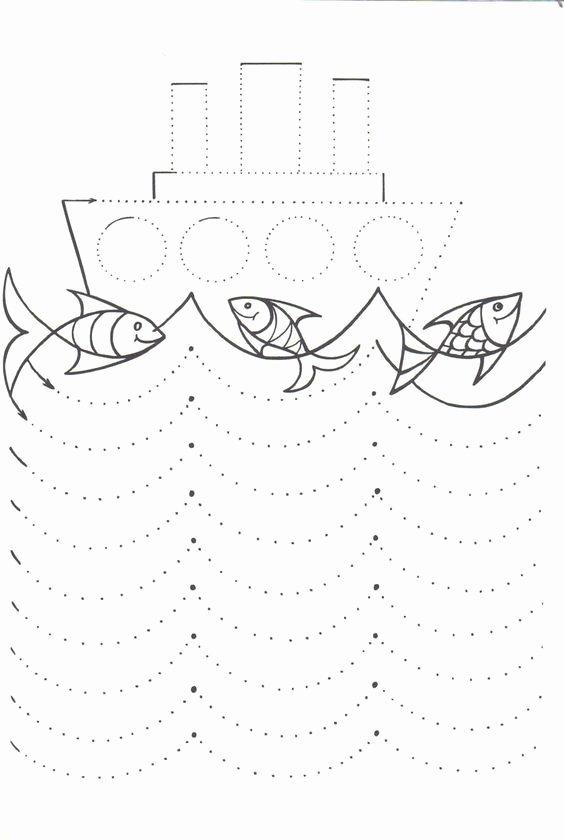 Boat Worksheets for Preschoolers Ideas Boat Trace Line Worksheet
