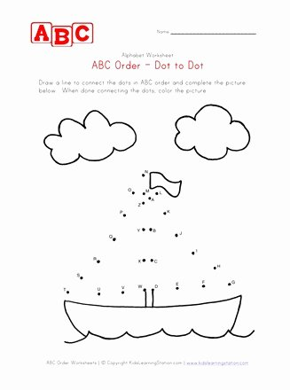 Boat Worksheets for Preschoolers Printable Abc Dot to Dot Boat
