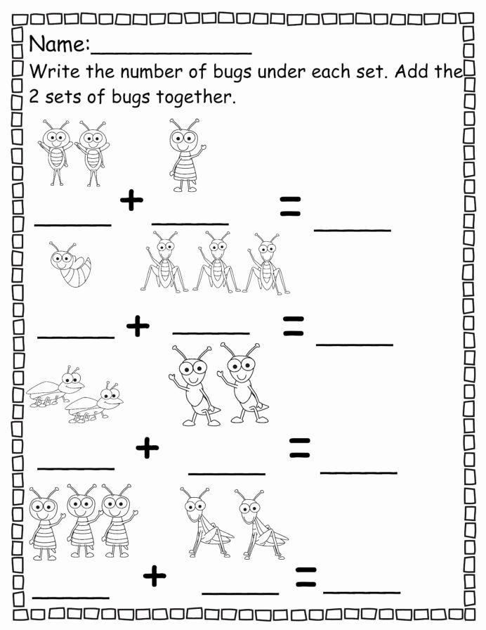 Bug Math Worksheets for Preschoolers Fresh Pre Addition Worksheets Email This Blogthis to Kinder