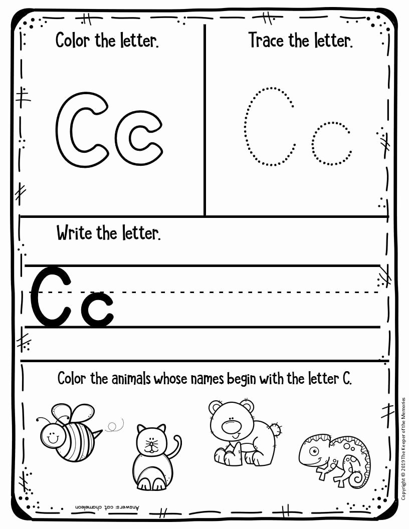 C Printable Worksheets for Preschoolers Free Free Printable Worksheets for Preschool & Kindergarten