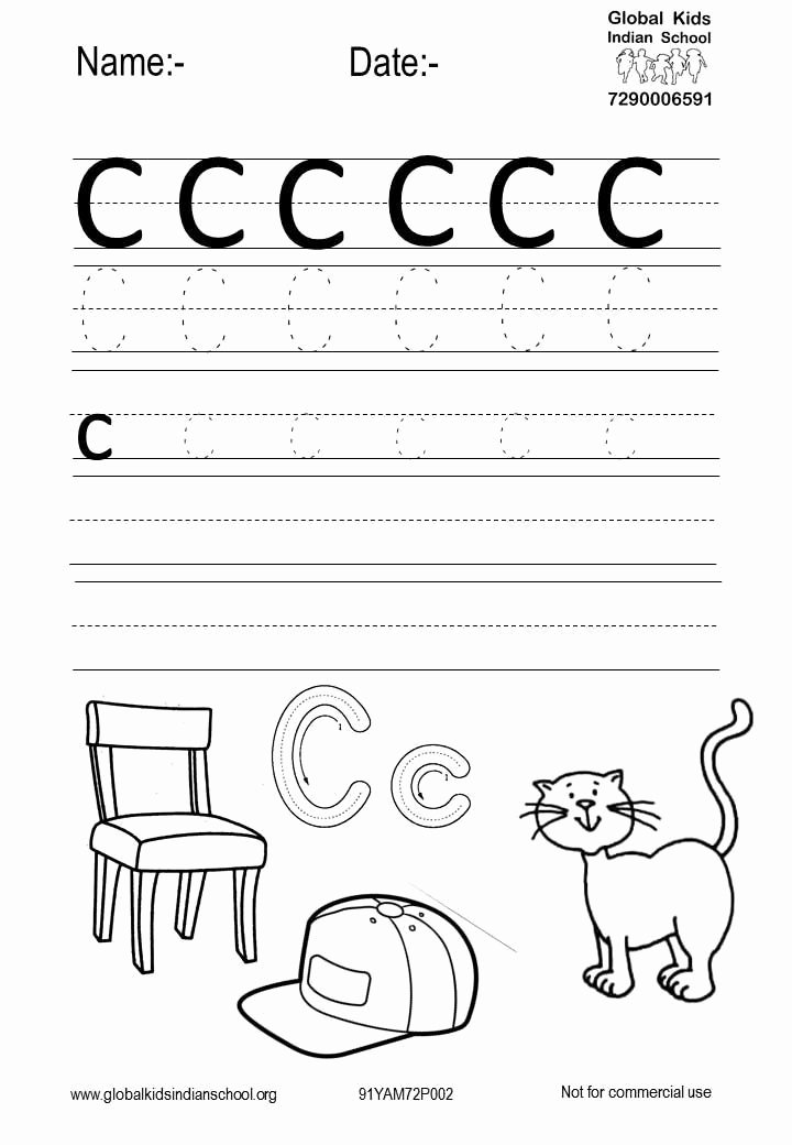 C Printable Worksheets for Preschoolers Printable Free Printable Worksheet for Kids
