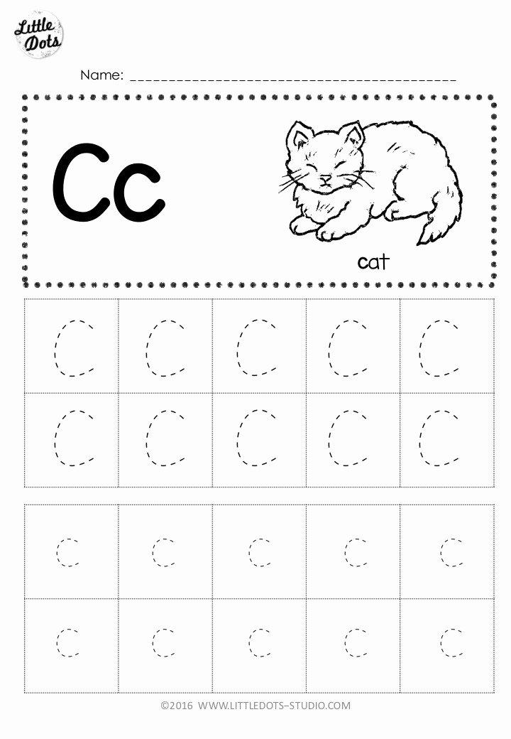 C Worksheets for Preschoolers Best Of Free Letter C Tracing Worksheets