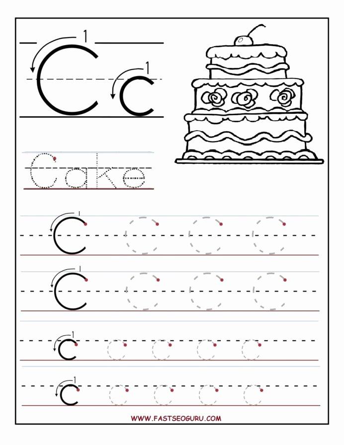 C Worksheets for Preschoolers Ideas Printable Letter Tracing Worksheets for Preschool Math