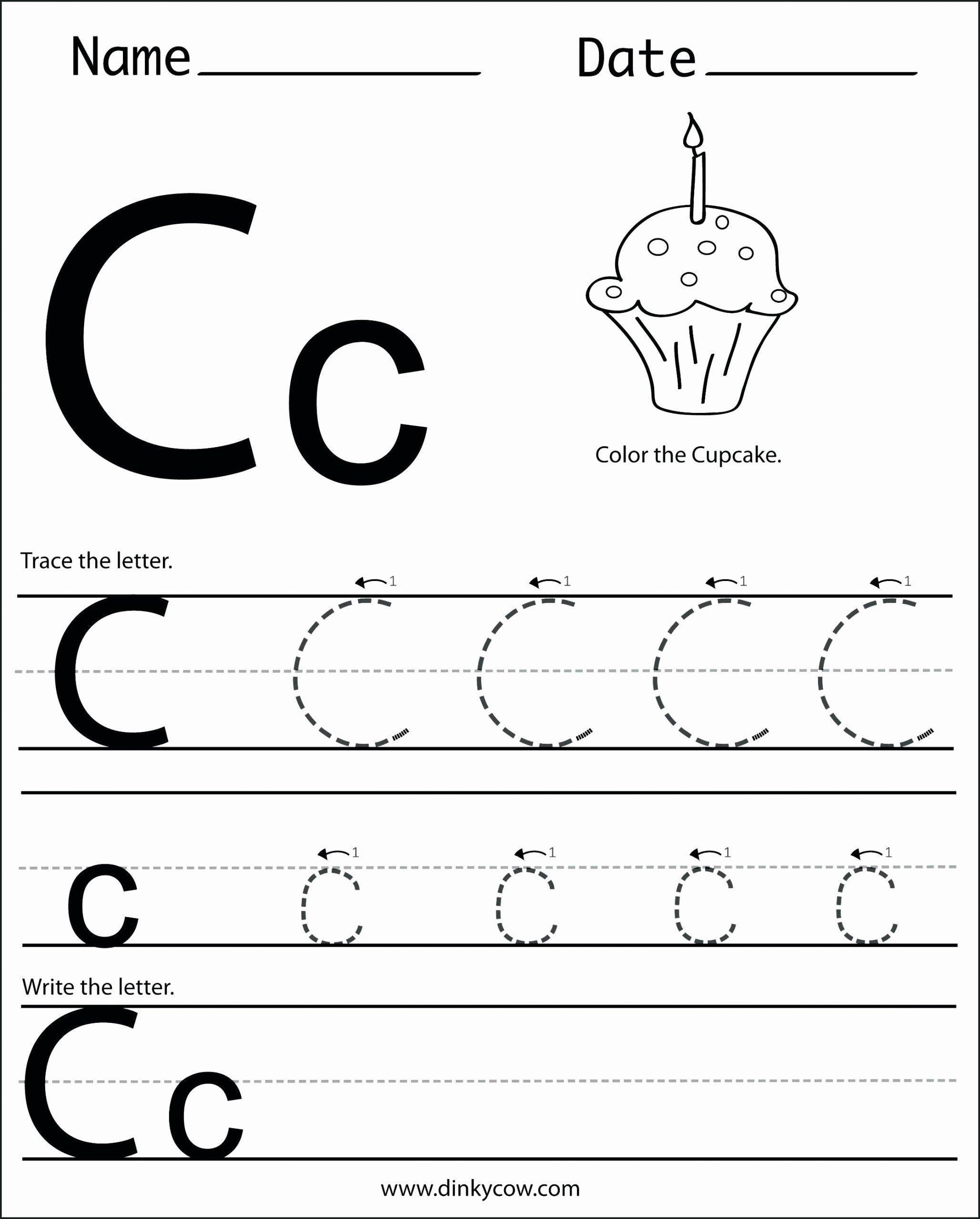 C Worksheets for Preschoolers Kids Letter C Worksheets to Learning Letter C Worksheets Misc
