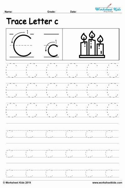 C Worksheets for Preschoolers Lovely Letter C Alphabet Tracing Worksheets Free Printable Pdf