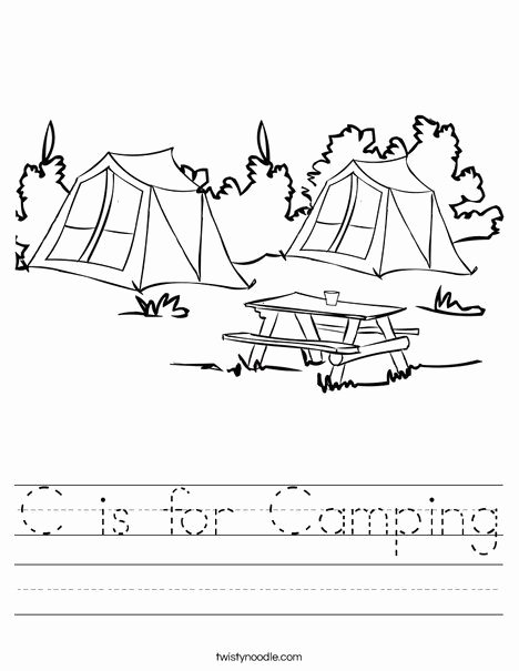 Camping Worksheets for Preschoolers Best Of C is for Camping Worksheet