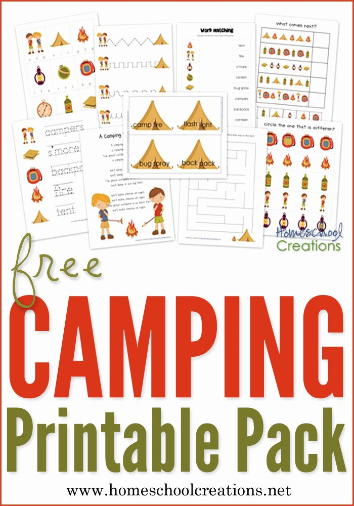 Camping Worksheets for Preschoolers Best Of Camping Preschool Pack Free Preschool Printables