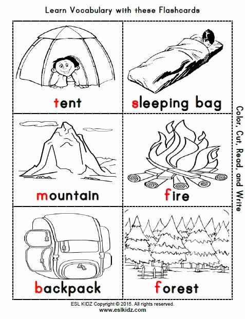 Camping Worksheets for Preschoolers Fresh Camping Activities Games and Worksheets for Kids