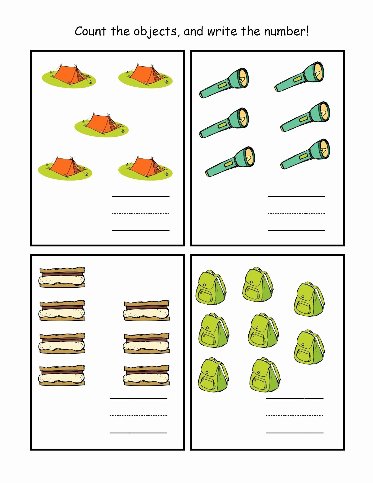 Camping Worksheets for Preschoolers Ideas Camping 5 8 1 236—1 600 Pixels