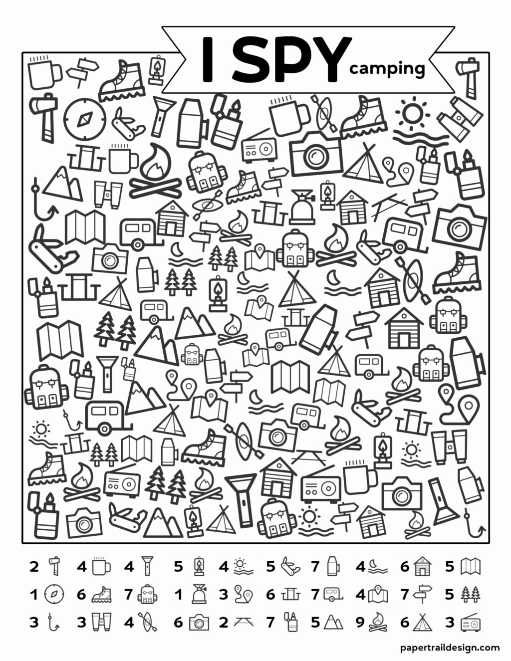 Camping Worksheets for Preschoolers New Worksheet Worksheet Free Kids Printables I Spy Camping