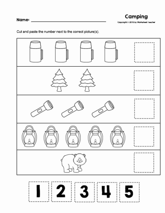 Camping Worksheets for Preschoolers Printable 10 Camping Preschool Curriculum Activities Preschool