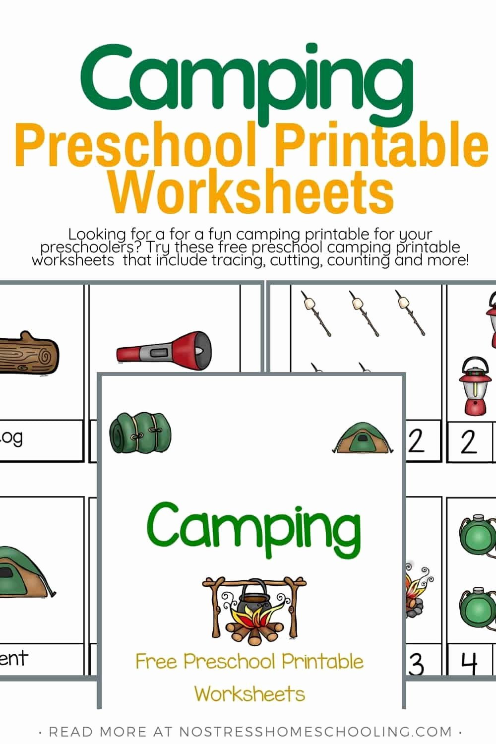 Camping Worksheets for Preschoolers Printable Free Camping Preschool Printable Worksheets