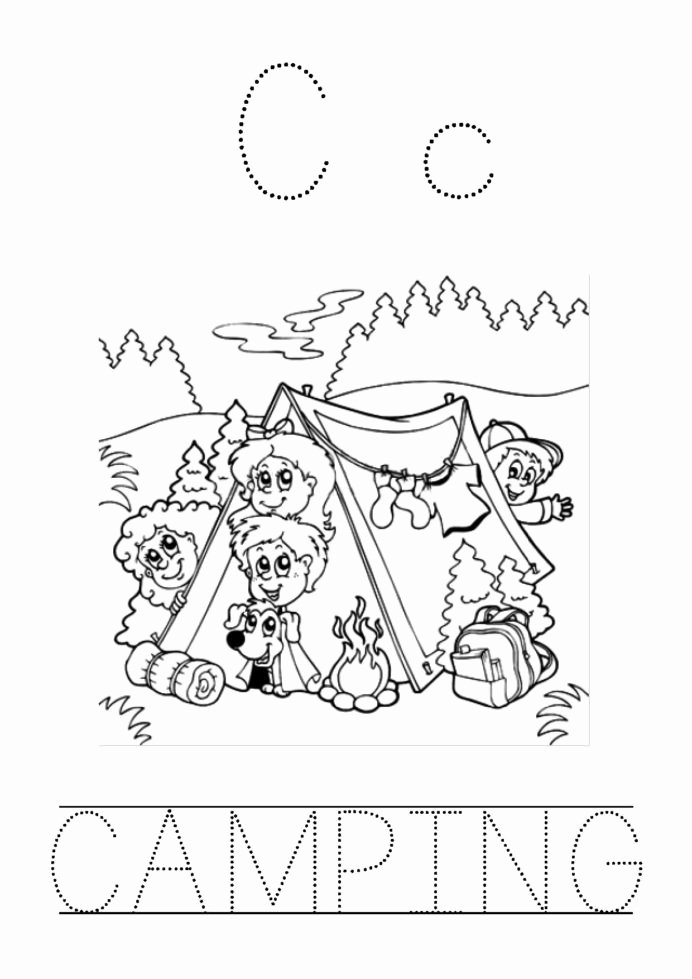 Camping Worksheets for Preschoolers Printable Preschool Camping theme Worksheet Printable Worksheets and