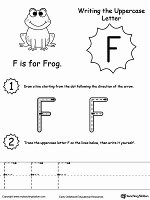 Capital Letters Worksheets for Preschoolers Printable Writing Uppercase Letter F