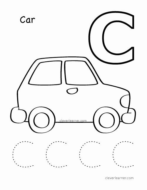 Car Worksheets for Preschoolers Inspirational C is for Cat Alphabet Writing Worksheet for Preschool
