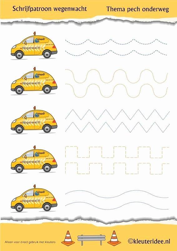 Car Worksheets for Preschoolers Lovely Car Trace Worksheet