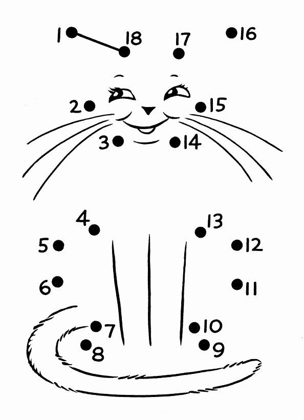 Cat Worksheets for Preschoolers Inspirational Dot to Dot Cat Worksheet