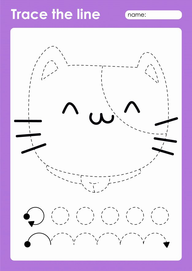 Cat Worksheets for Preschoolers Lovely Premium Vector