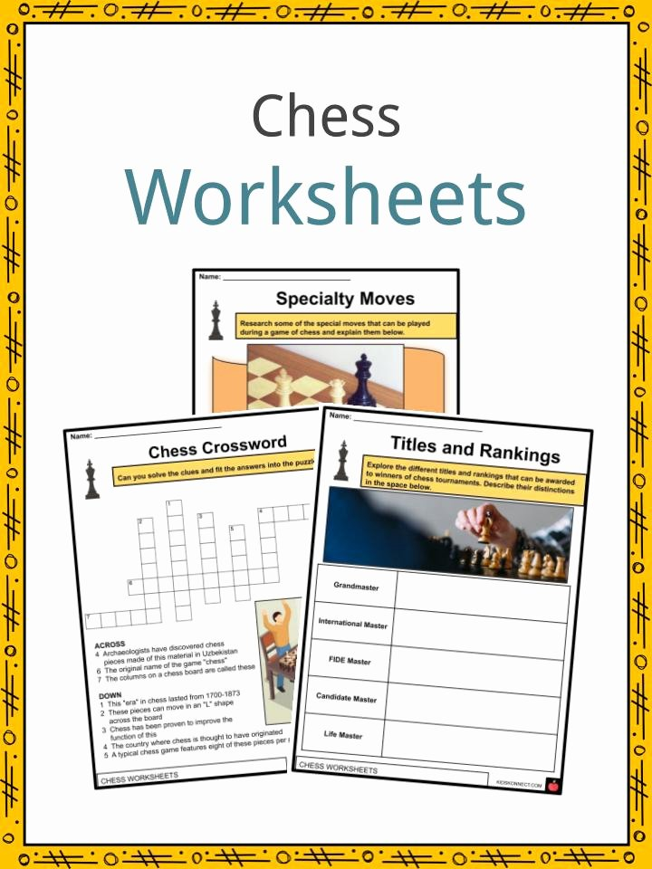 Chess Worksheets for Preschoolers Free Chess Facts Worksheets History & Rules for Kids