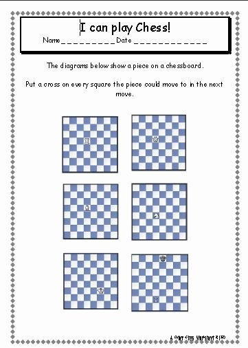Chess Worksheets for Preschoolers Ideas A Chess Tutorial Site Designed for Children and the Young