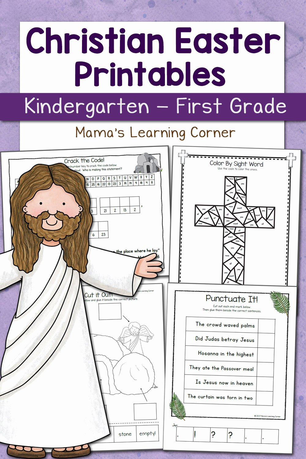 Christian Easter Worksheets for Preschoolers Kids Christian Easter Worksheets for Kindergarten and First Grade
